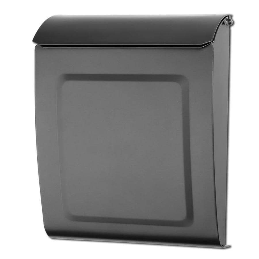Architectural Mailboxes Aspen 9-in x 11.2-in Metal Graphite Lockable Wall Mount Mailbox