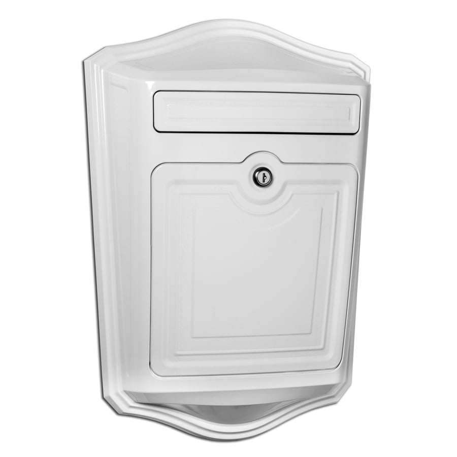 Architectural Mailboxes Maison 13.9-in x 19.4-in Metal White Lockable Wall Mount Mailbox