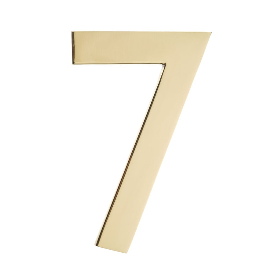 Architectural Mailboxes 4-in Polished Brass House Number 7