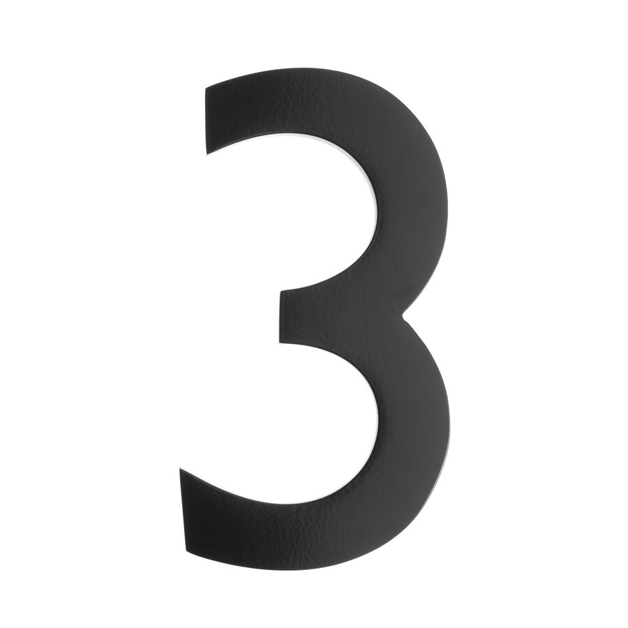 Architectural Mailboxes 5-in Black House Number #3