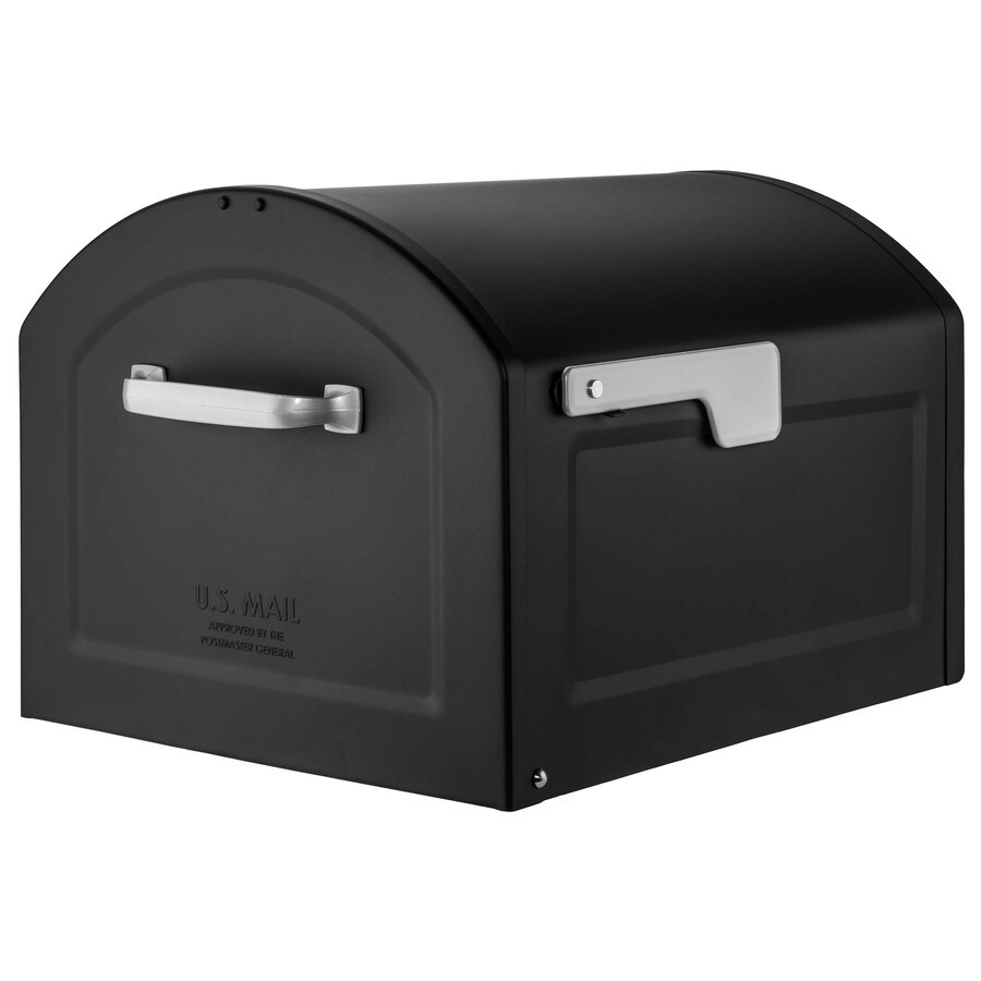 Architectural Mailboxes Centennial 14.2-in x 12.6-in Metal Black Post Mount Mailbox