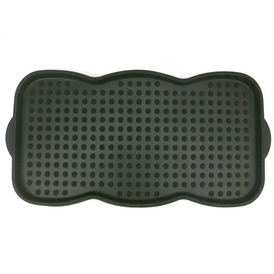 Black Rectangular Boot Tray (Common: 15-in x 30-in; Actual: 15-in x 29-in)