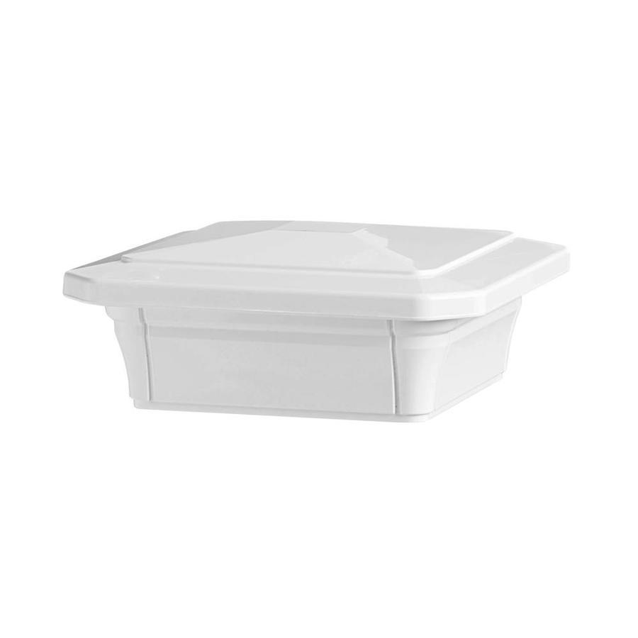 Fiberon White Unlit Composite Deck Post Cap Fits Common