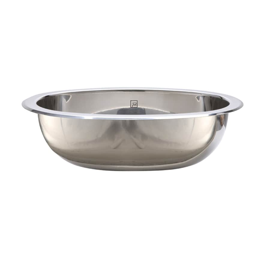 Used Bathroom Sinks : ... Polished Stainless Steel Undermount Oval Bathroom Sink at Lowes.com