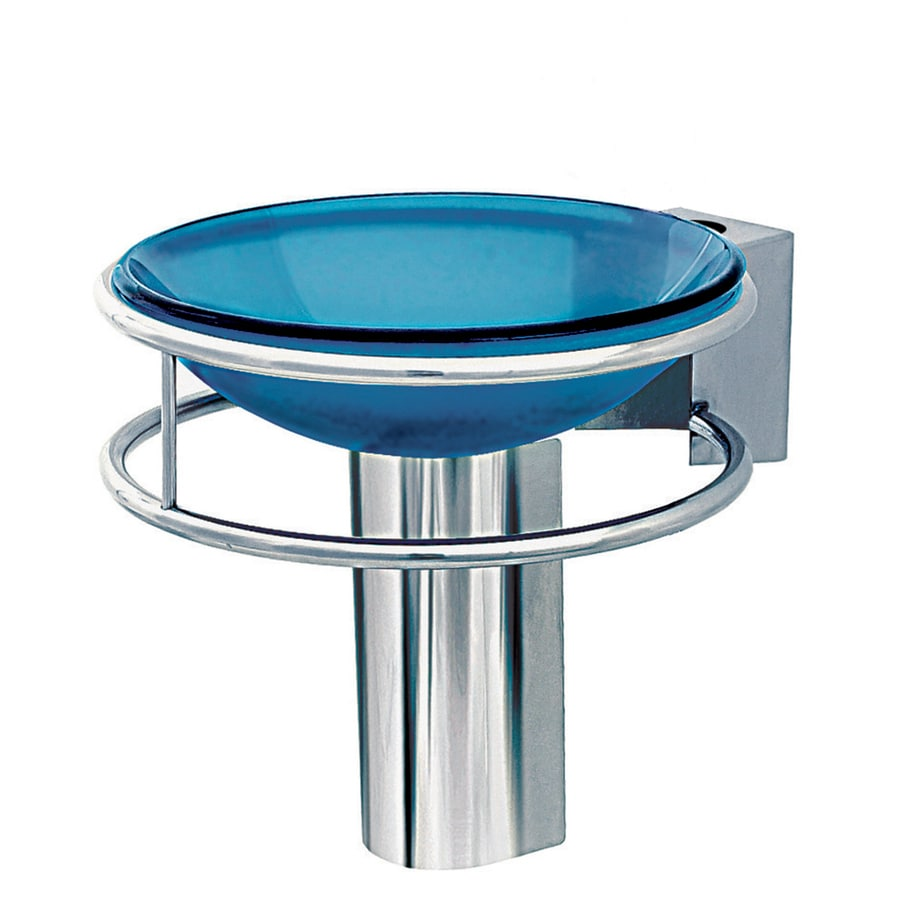 DECOLAV Wall Mounts 6.875-in H Polished Stainless Steel Pedestal Sink Base