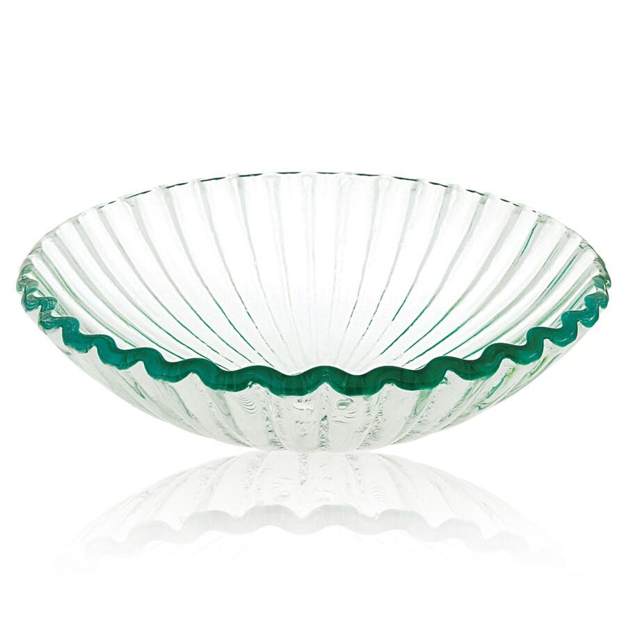 DECOLAV Translucence White Glass Vessel Round Bathroom Sink