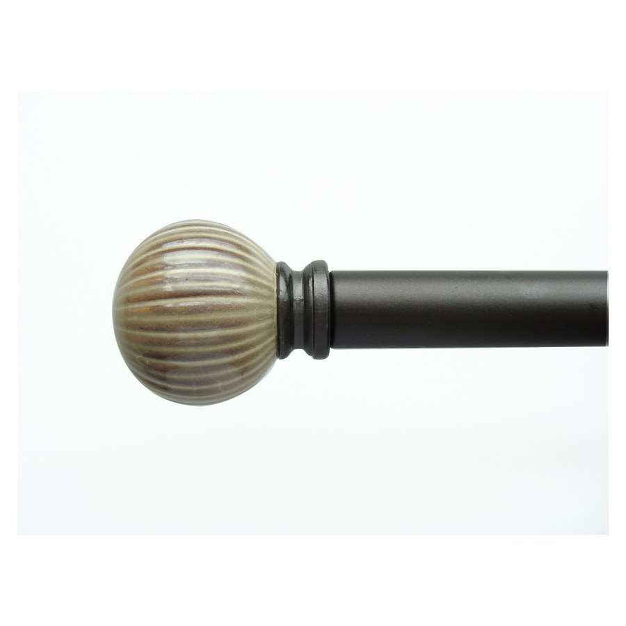 allen + roth 36-in to 72-in Mocha Ceramic Glaze Single Curtain Rod