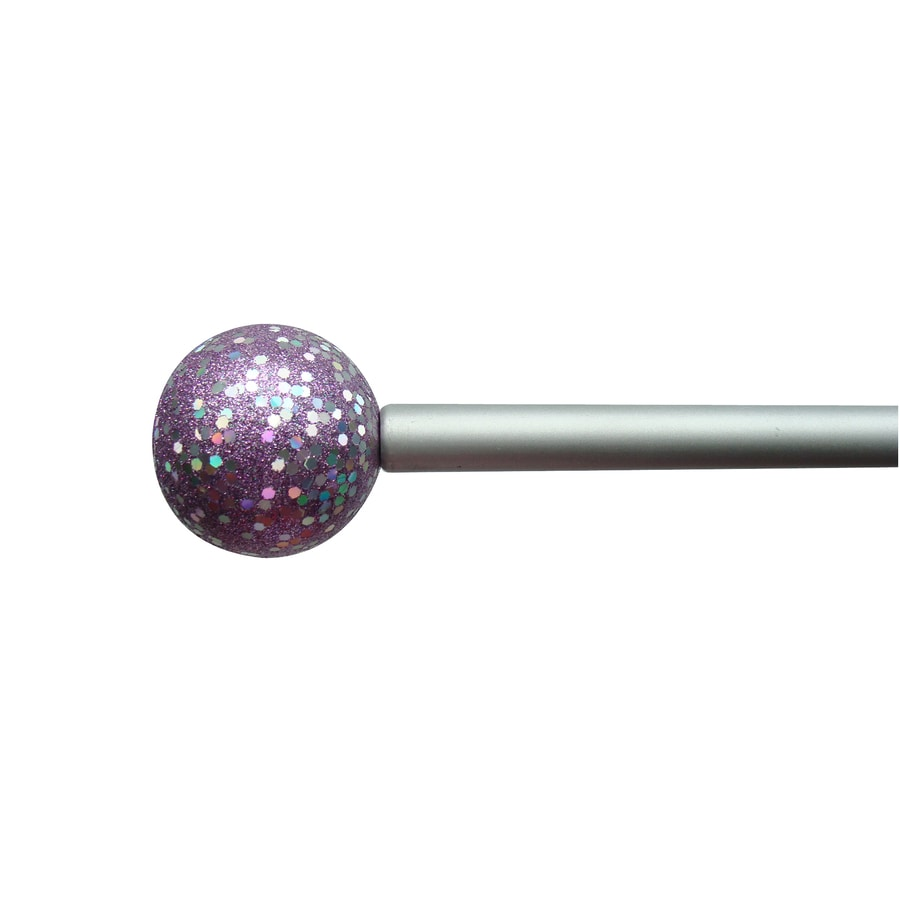 Style Selections 28-in to 48-in Pink/purple Steel Single Curtain Rod