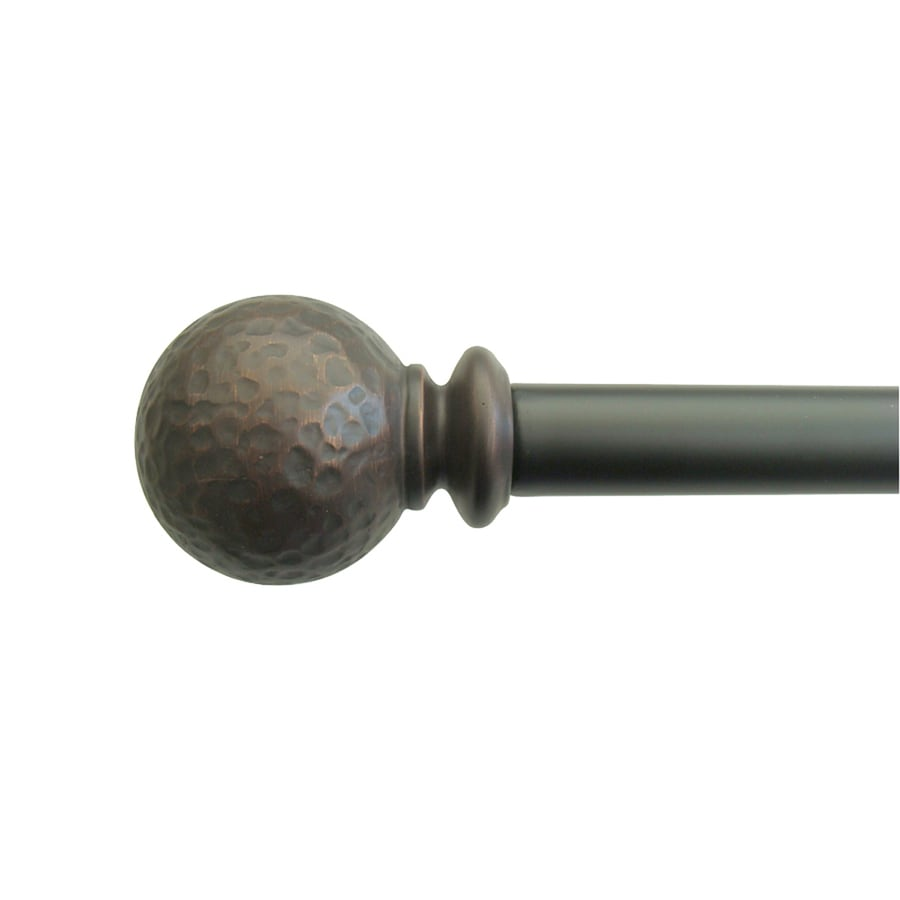 allen + roth 36-in to 72-in Oil-Rubbed Bronze Steel Single Curtain Rod
