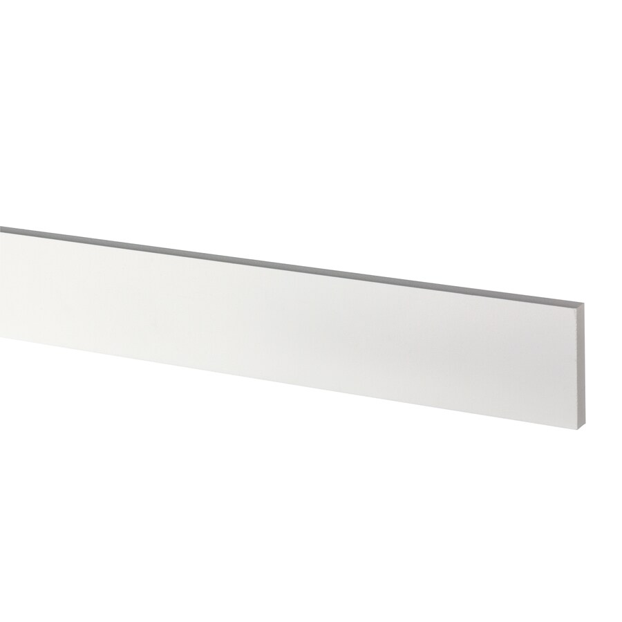 AZEK (Actual: 0.63-in x 3.5-in x 18-ft) Traditional PVC Board