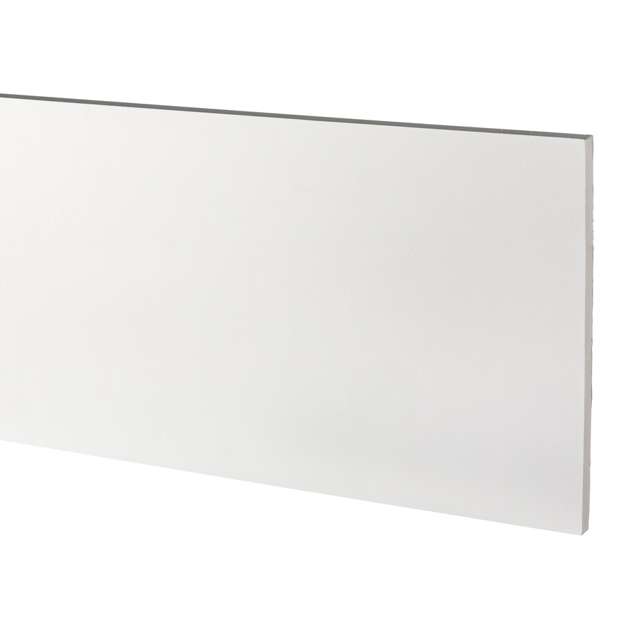 AZEK (Actual: 0.63-in x 11.25-in x 18-ft) Traditional PVC Board
