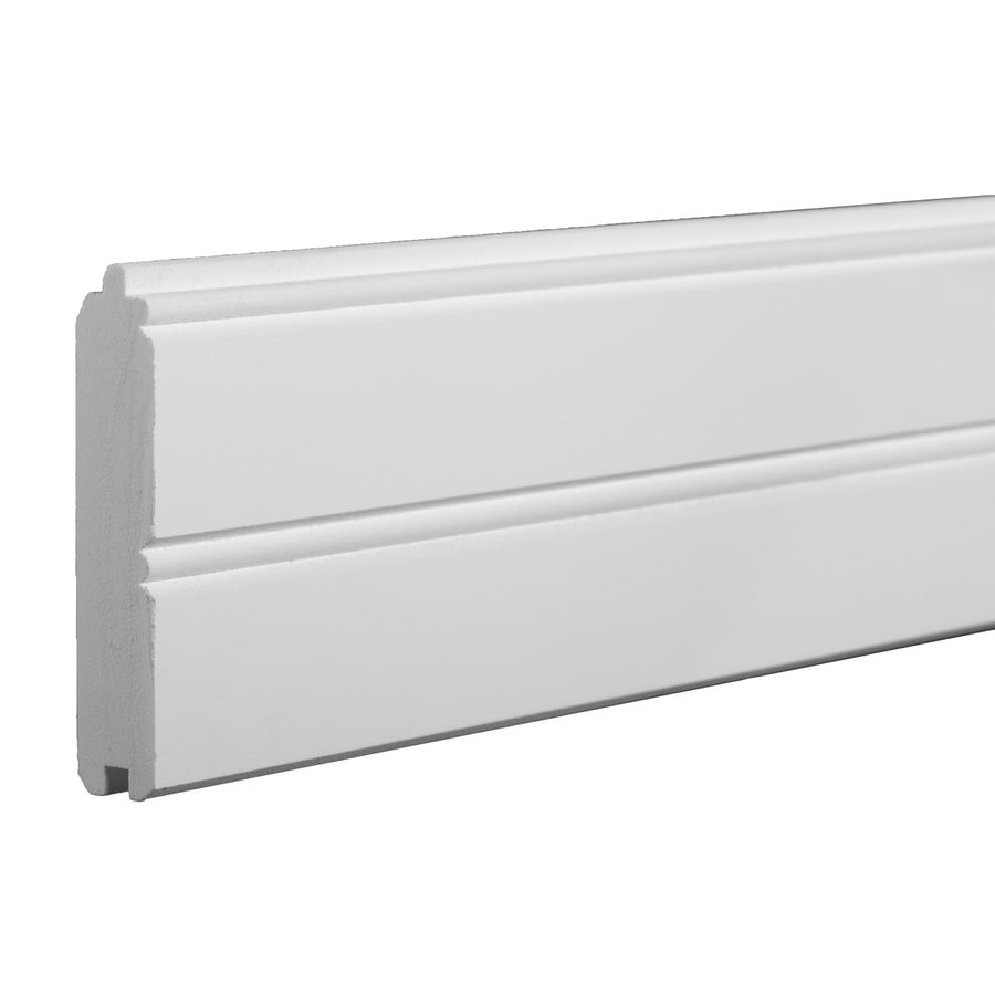 AZEK Traditional 3.375-in x 18-ft Smooth White Plastic Wainscoting Wall Panel