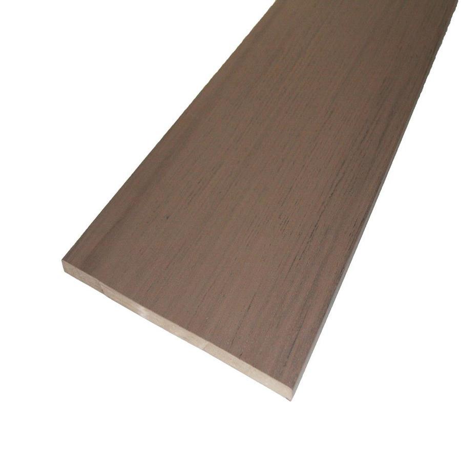 AZEK (Actual: 0.5-in x 11.75-in x 12-ft) Silver Oak Square PVC Deck Board