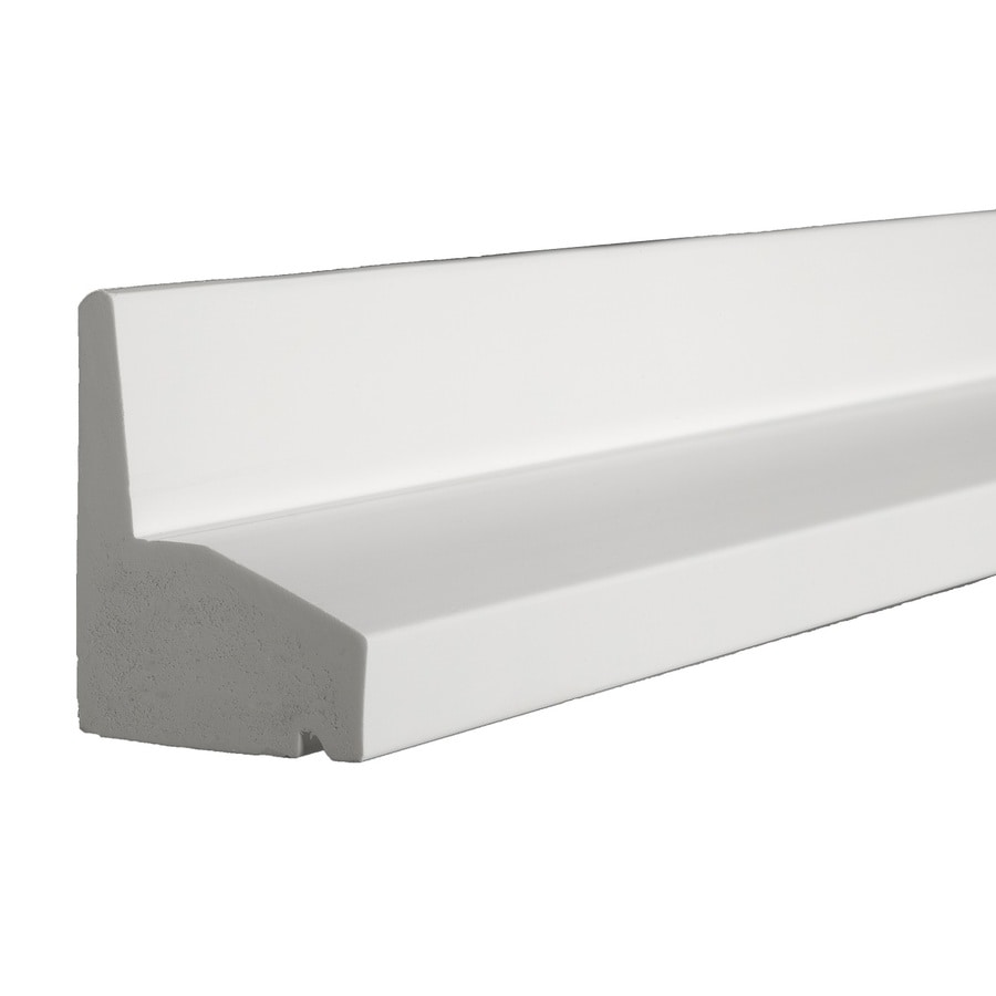 Shop Azek X 18 Ft Interior Exterior Prefinished Pvc Sill Window Moulding At