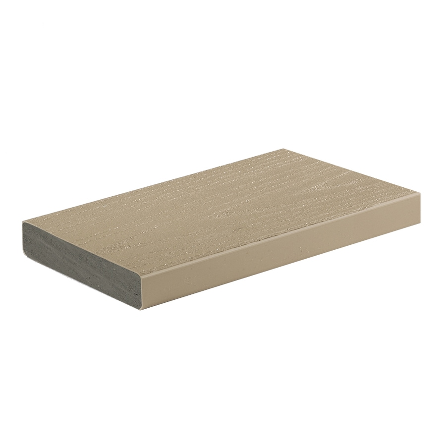 Shop azek 16 ft brownstone pvc deck board at for Composite decking boards