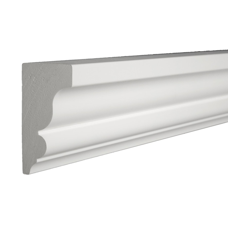 Shop Azek 2 75 In X 16 Ft Prefinished Pvc Crown Moulding
