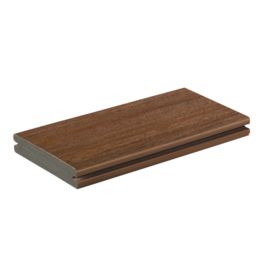 AZEK (Actual: 1-in x 5.5-in x 20-ft) Vintage Mahogany Grooved Pvc Deck Board
