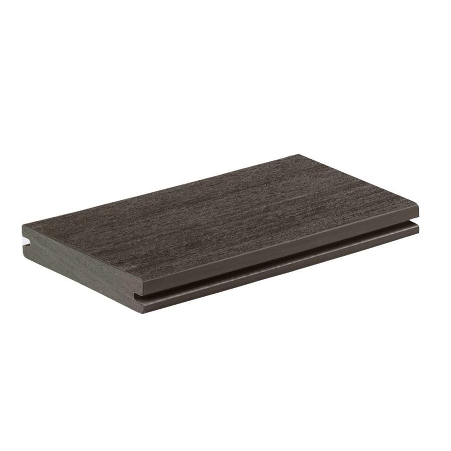 AZEK Vintage Dark Hickory Groove PVC Deck Board (Actual: 1-in x 5.5-in x 12-ft)