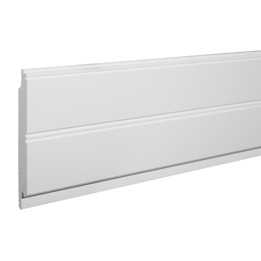 Azek 5 5 In X 8 Ft Single Bead White Pvc Wainscoting Wall