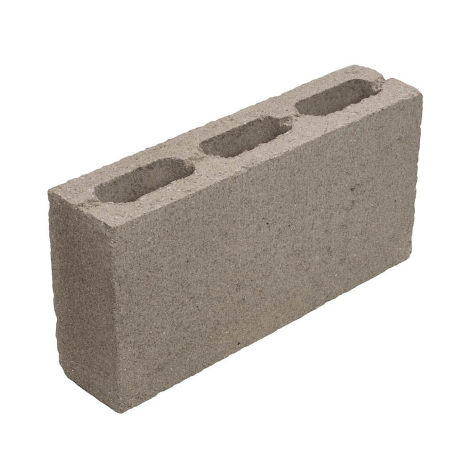 Standard Cored Concrete Block (Common: 4-in X 8-in X 16-in