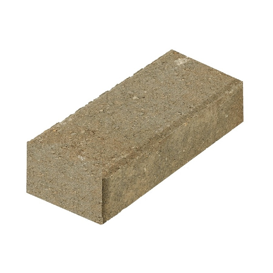 Tan-Charcoal-Gray/Smooth Paver (Common: 4-in x 8-in; Actual: 3.8-in x 7.7-in)