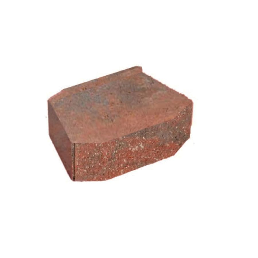 Red-Charcoal Splitface Retaining Wall Block (Common: 9-in x 12-in; Actual: 8.5-in x 12-in)