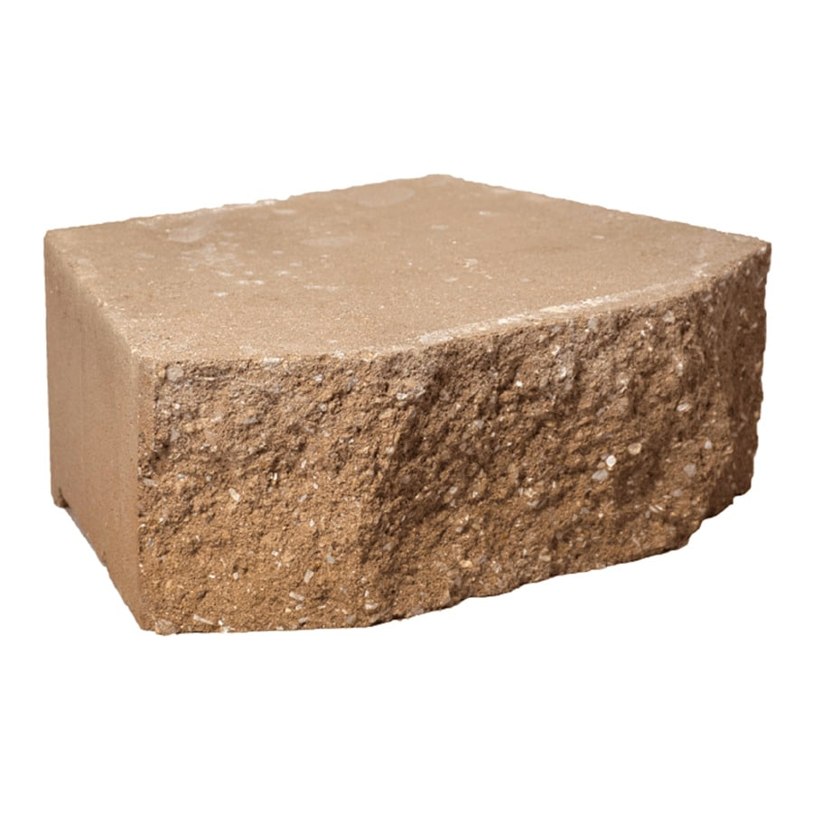 Tan Splitface Retaining Wall Block (Common: 4-in x 12-in; Actual: 4-in x 12-in)
