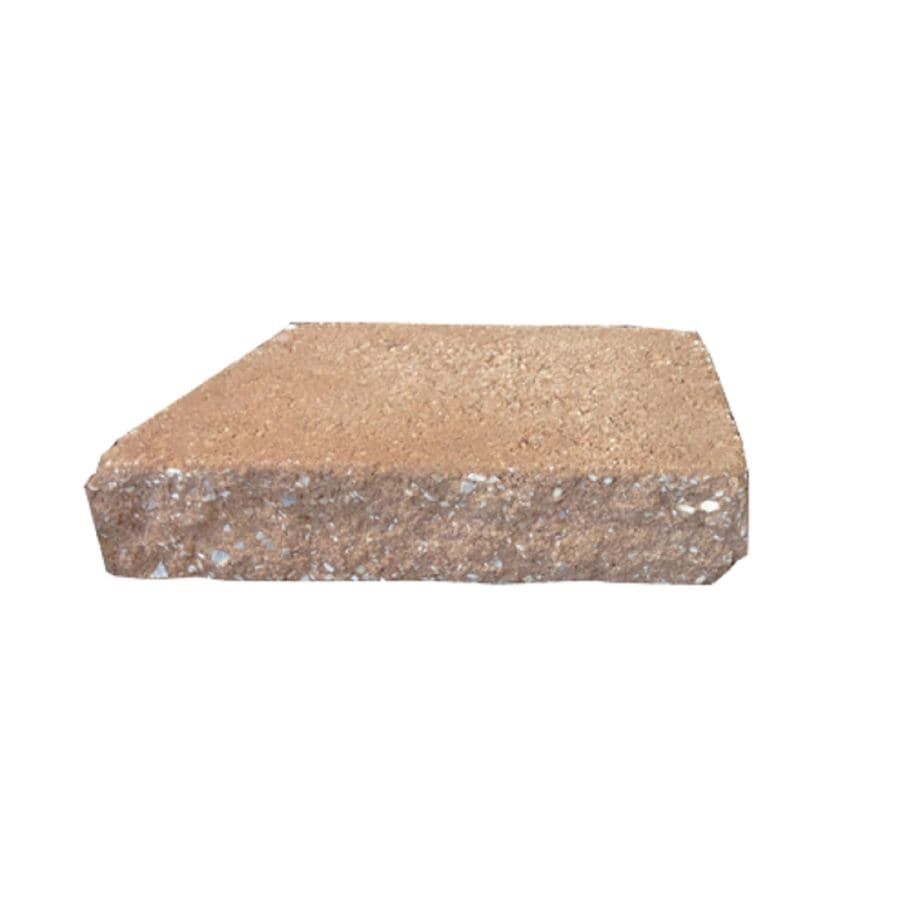 Tan Splitface Retaining Wall Cap (Common: 2-in x 12-in; Actual: 2.38-in x 12-in)