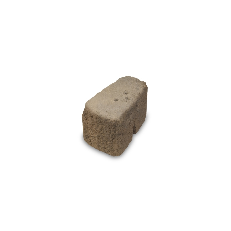 Sandstone Blend Color with Soft Splitface Tumbled Texture Retaining Wall Block (Common: 6-in x 6-in; Actual: 6-in x 6-in)