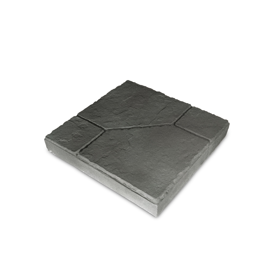 Insignia Charcoal Blend/Slate Texture Patio Stone (Common: 16-in x 16-in; Actual: 16-in x 16-in)