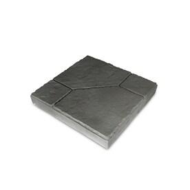 Insignia Charcoal Blend/Slate Texture Concrete Patio Stone (Common: 16 In X