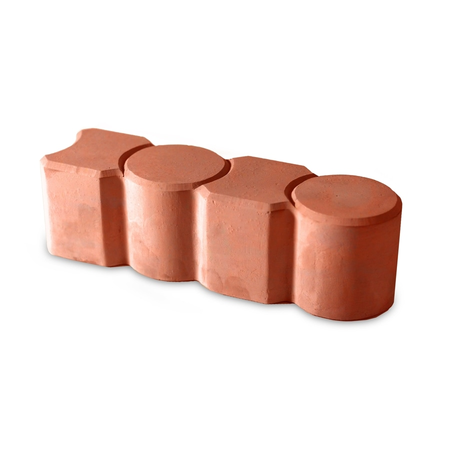 Red/Smooth Texture Straight Edging Stone (Common 3-in x 12-in; Actual: 3.1-in x 12-in)