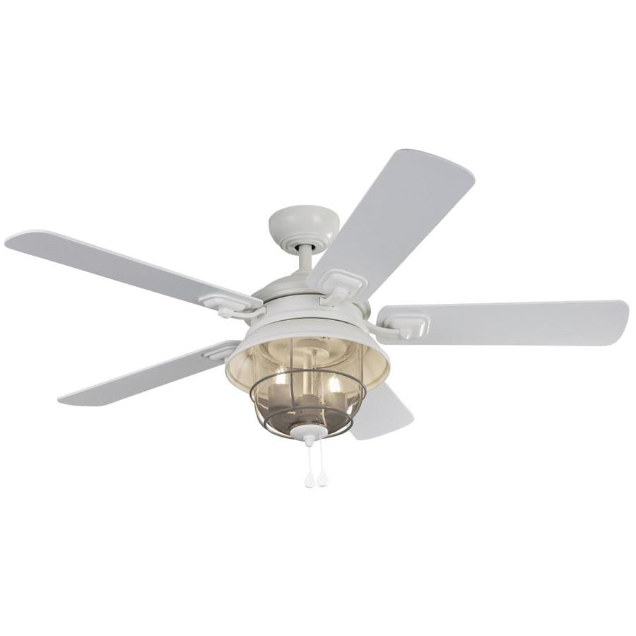 52 Ceiling Fan With Light Kit Indoor Outdoor Downrod: Shop Harbor Breeze Altissa 52-in Matte White Indoor
