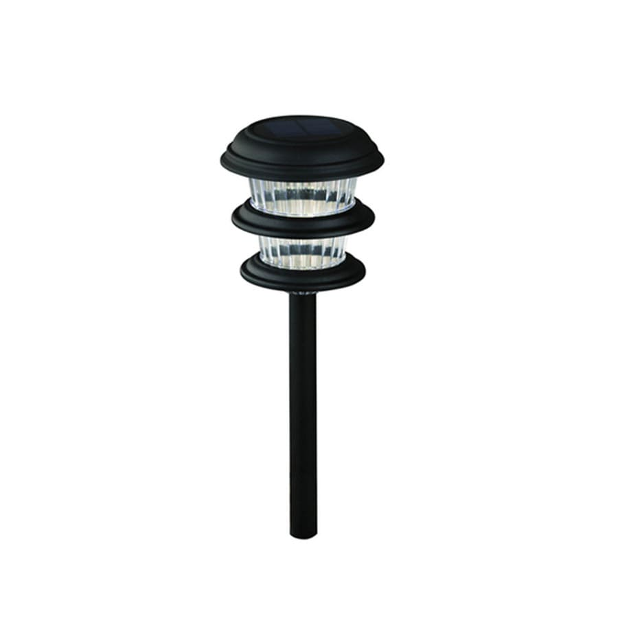 Portfolio 8X 0.14-Watt Black Solar LED Path Light