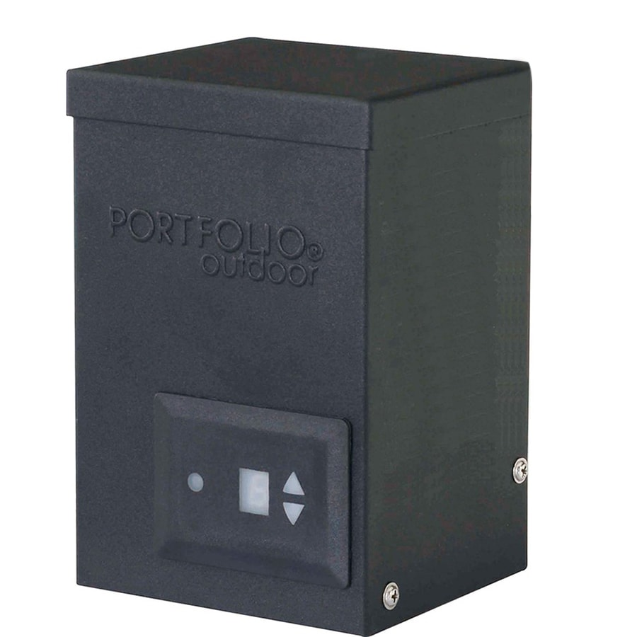 Shop portfolio 200 watt 12 volt multi tap transformer for Volt landscape lighting