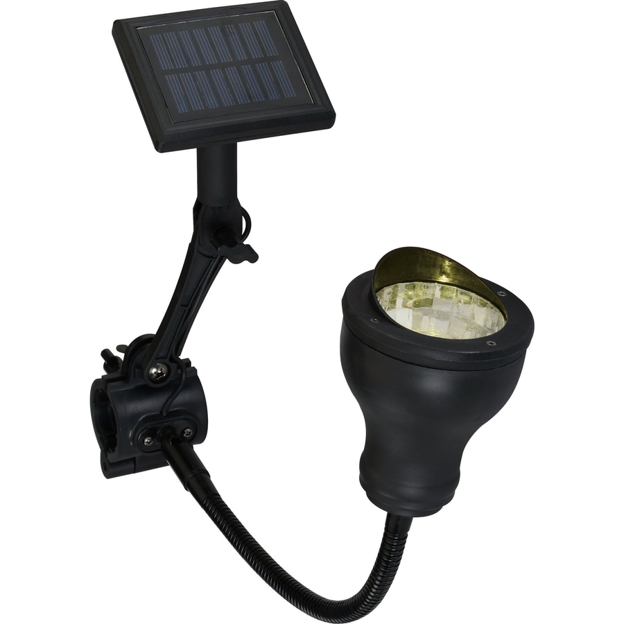 Shop portfolio black plastic solar powered flag pole light at lowes portfolio black plastic solar powered flag pole light aloadofball