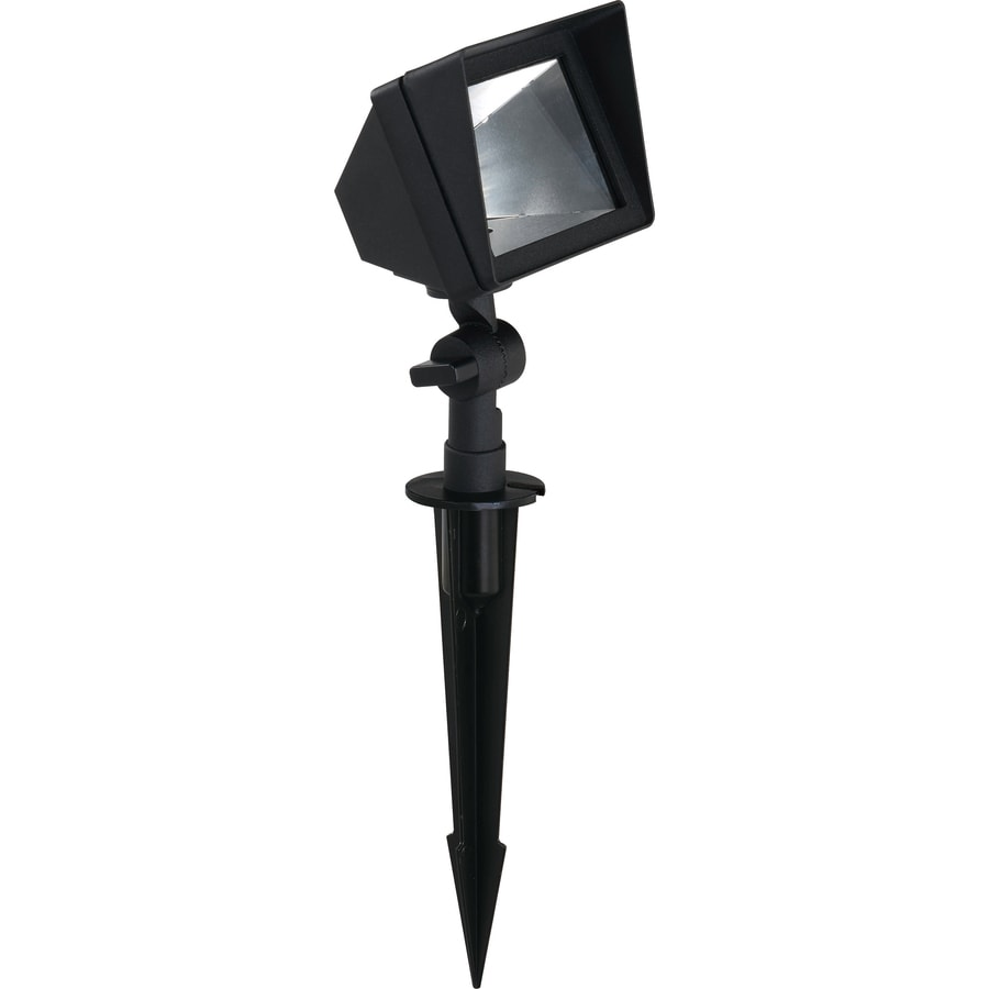 Shop portfolio 50 watt black low voltage halogen landscape for Volt landscape lighting