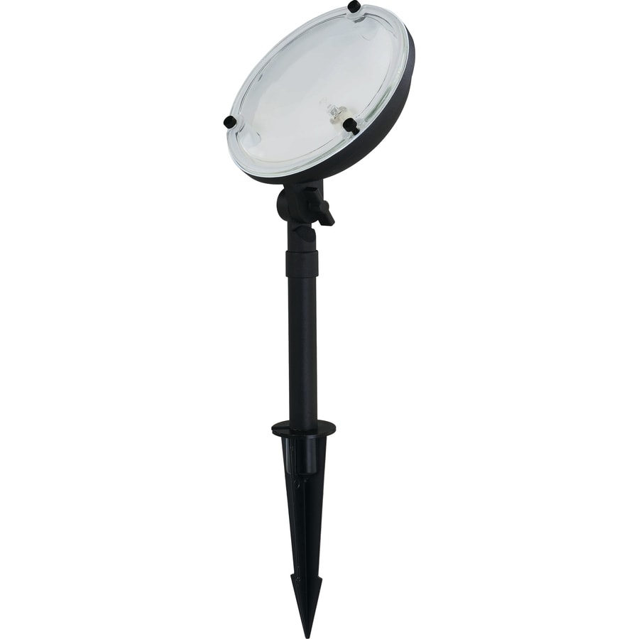 Shop portfolio 35 watt black low voltage halogen landscape for Volt landscape lighting