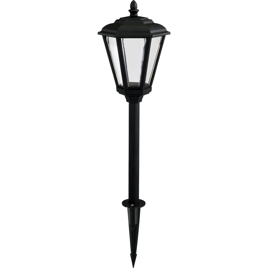 Shop portfolio 2 watt powder coated black low voltage led for Volt landscape lighting