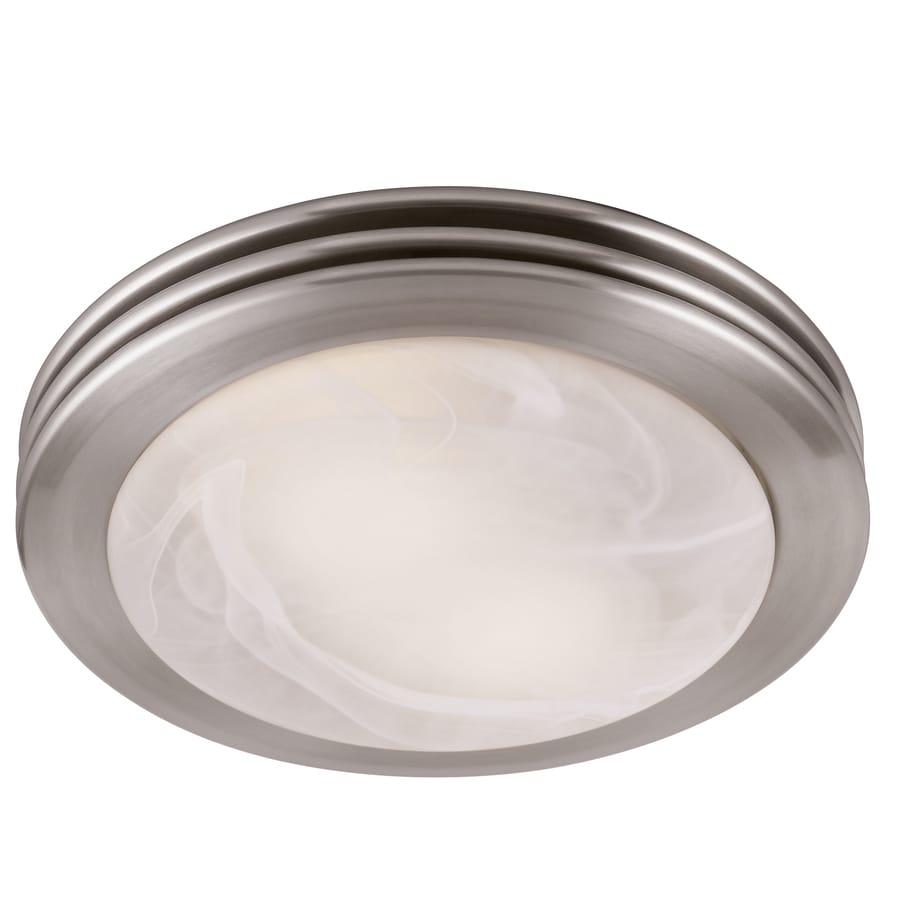 Shop Utilitech 2-Sone 80-CFM Brushed Nickel Bathroom Fan with Incandescent Room Light at Lowes.com