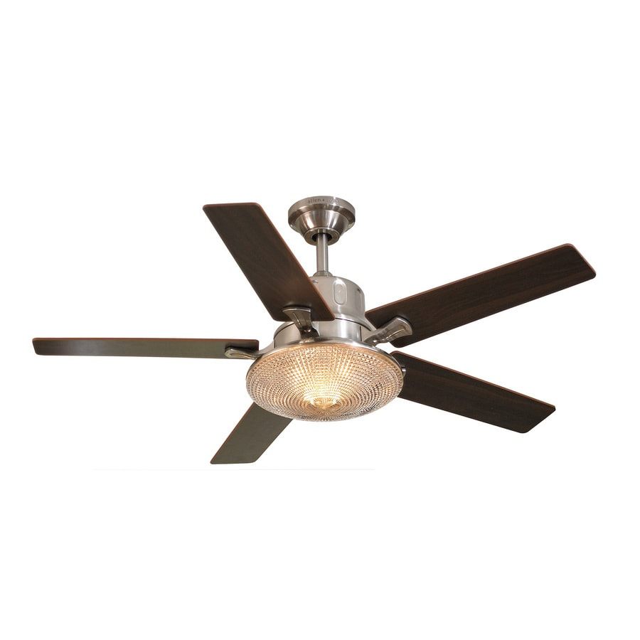 "shop allen + roth 50"" tilden brushed nickel ceiling fan at lowes"