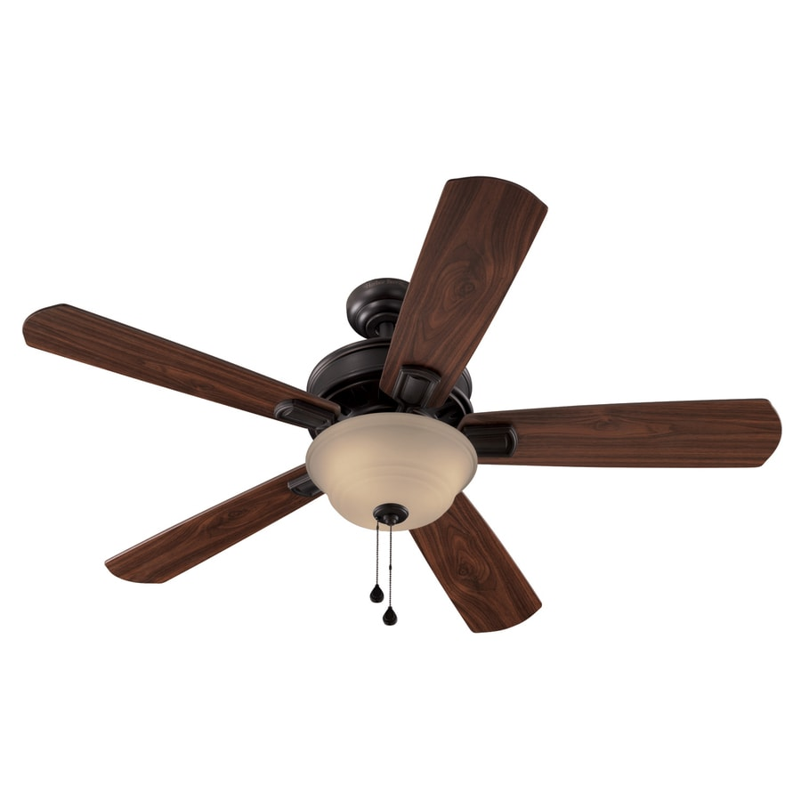 Harbor Breeze 54-in Easy Breeze Antique Bronze Ceiling Fan with Light Kit ENERGY STAR