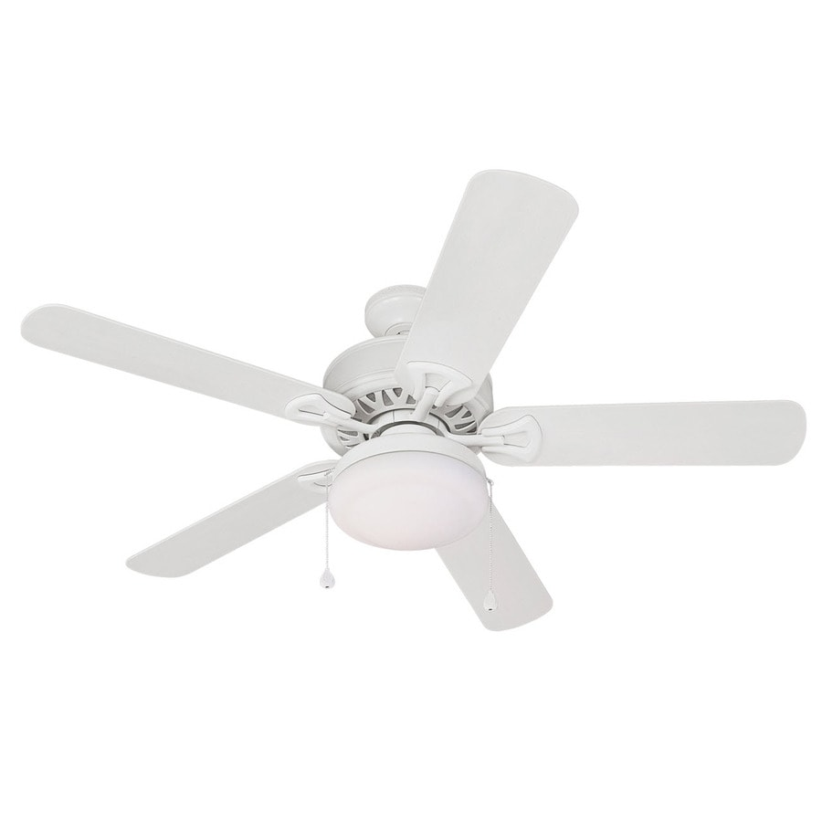 Harbor Breeze 52-in Calera White Outdoor Ceiling Fan with Light Kit ENERGY STAR