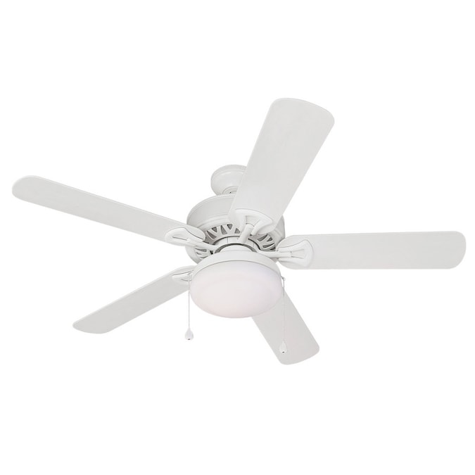 Harbor Breeze 52 In Calera White Outdoor Ceiling Fan With Light Kit Energy Star In The Ceiling Fans Department At Lowes Com