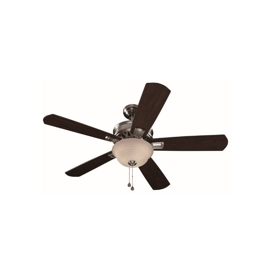 Harbor Breeze Easy Breeze 54-in Brushed Nickel Multi-Position Indoor Ceiling Fan with Light Kit ENERGY STAR