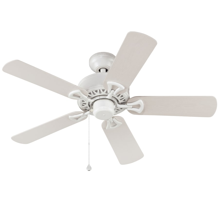 Harbor Breeze Calera 42-in White Downrod or Close Mount Indoor/Outdoor Residential Ceiling Fan