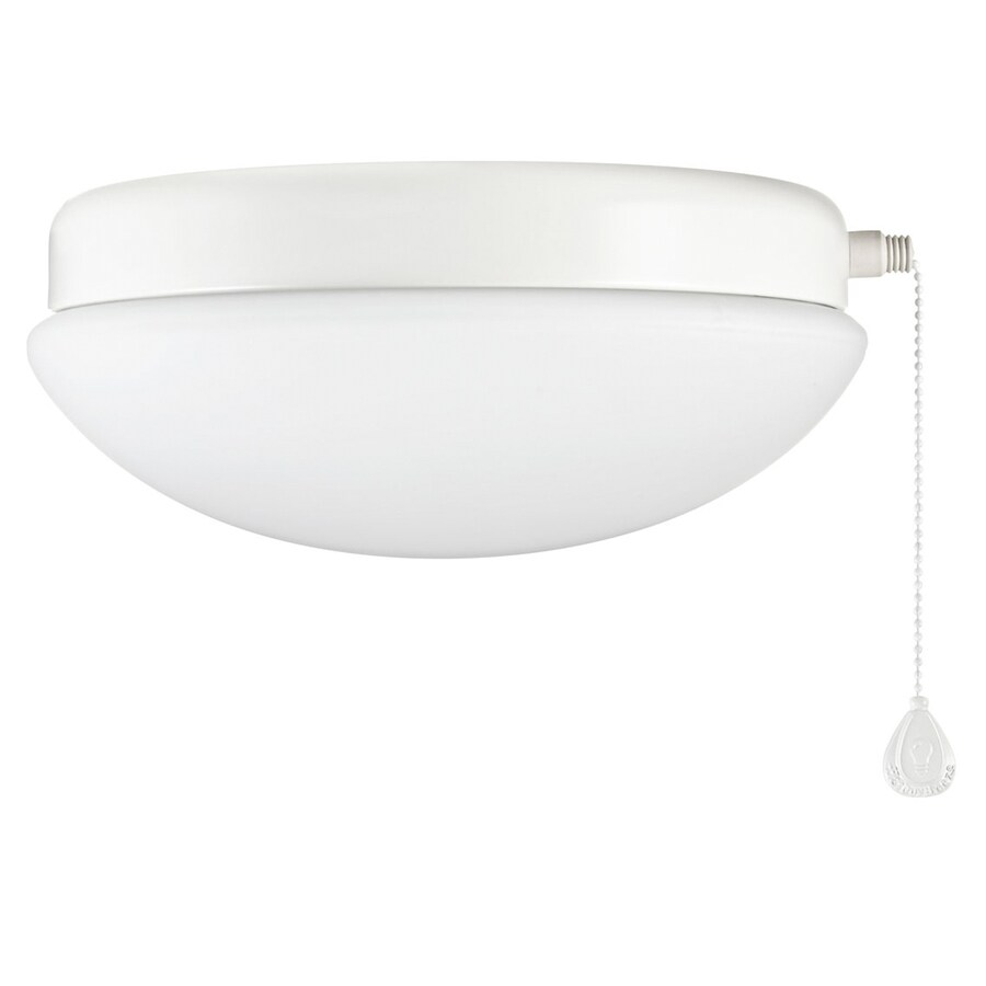 Shop ceiling fan light kits at lowes harbor breeze calera white 1 light white fluorescent ceiling fan light kit with opalescent glass aloadofball Choice Image