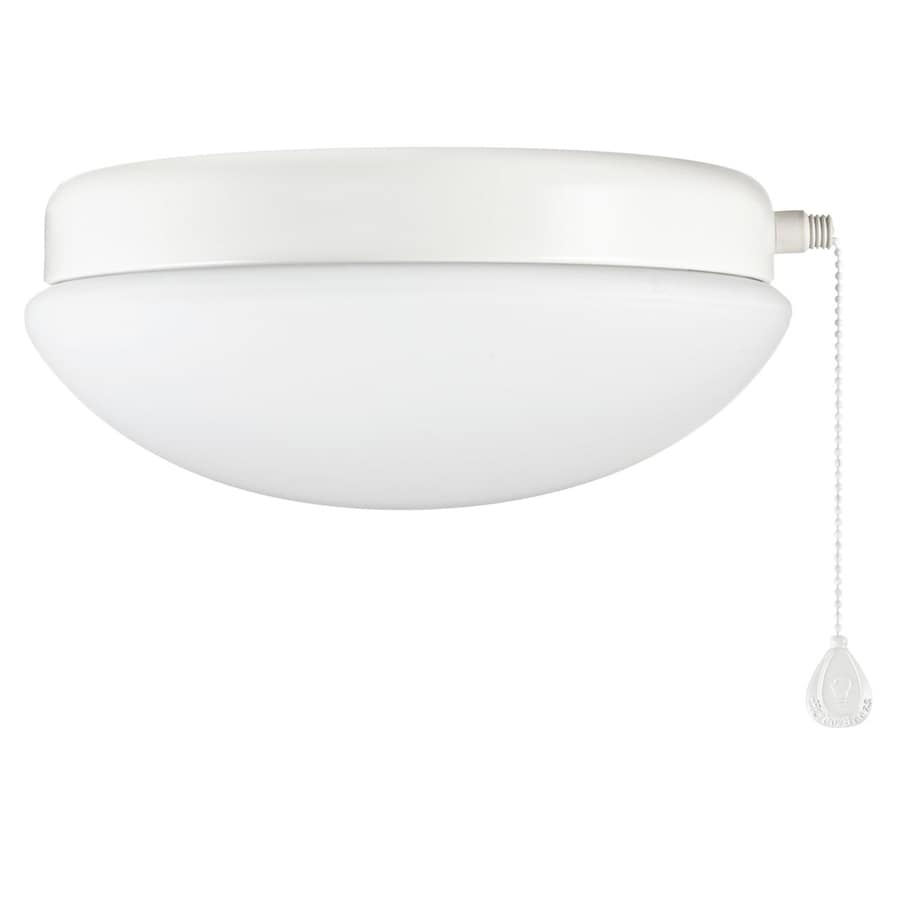 Shop harbor breeze calera white 1 light white fluorescent ceiling harbor breeze calera white 1 light white fluorescent ceiling fan light kit with opalescent glass mozeypictures Choice Image