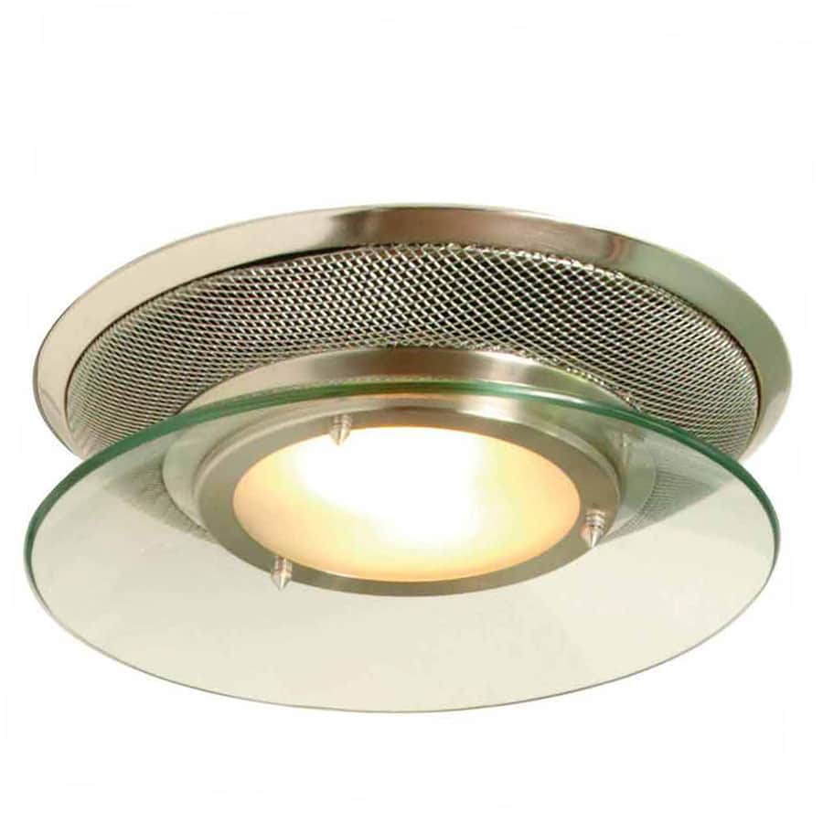 Shop Allen Roth Sones CFM Brushed Stainless Steel Bathroom - Stainless steel bathroom light fixtures