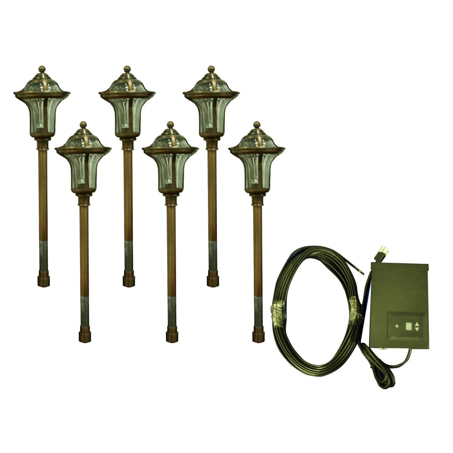 Low Voltage Lighting Pros And Cons: Portfolio 6-Light Copper Low Voltage 7-Watt (7W Equivalent